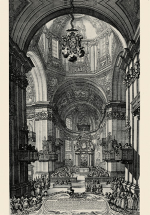 Salzburg Cathedral in the 1700s